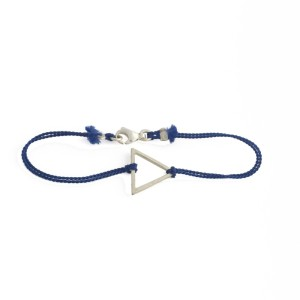armband open triangle blau